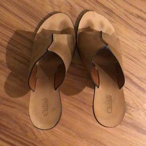 Chloé high wooden heel mules